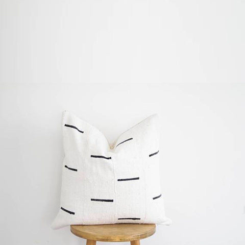 Mud Cloth Nursing Pillow Cover - Black + White X