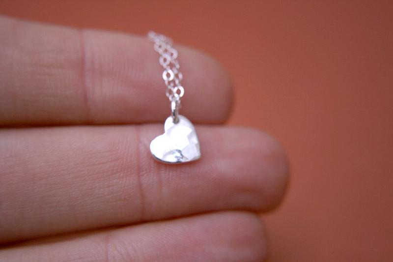 Hammered Heart Necklace - Project Nursery