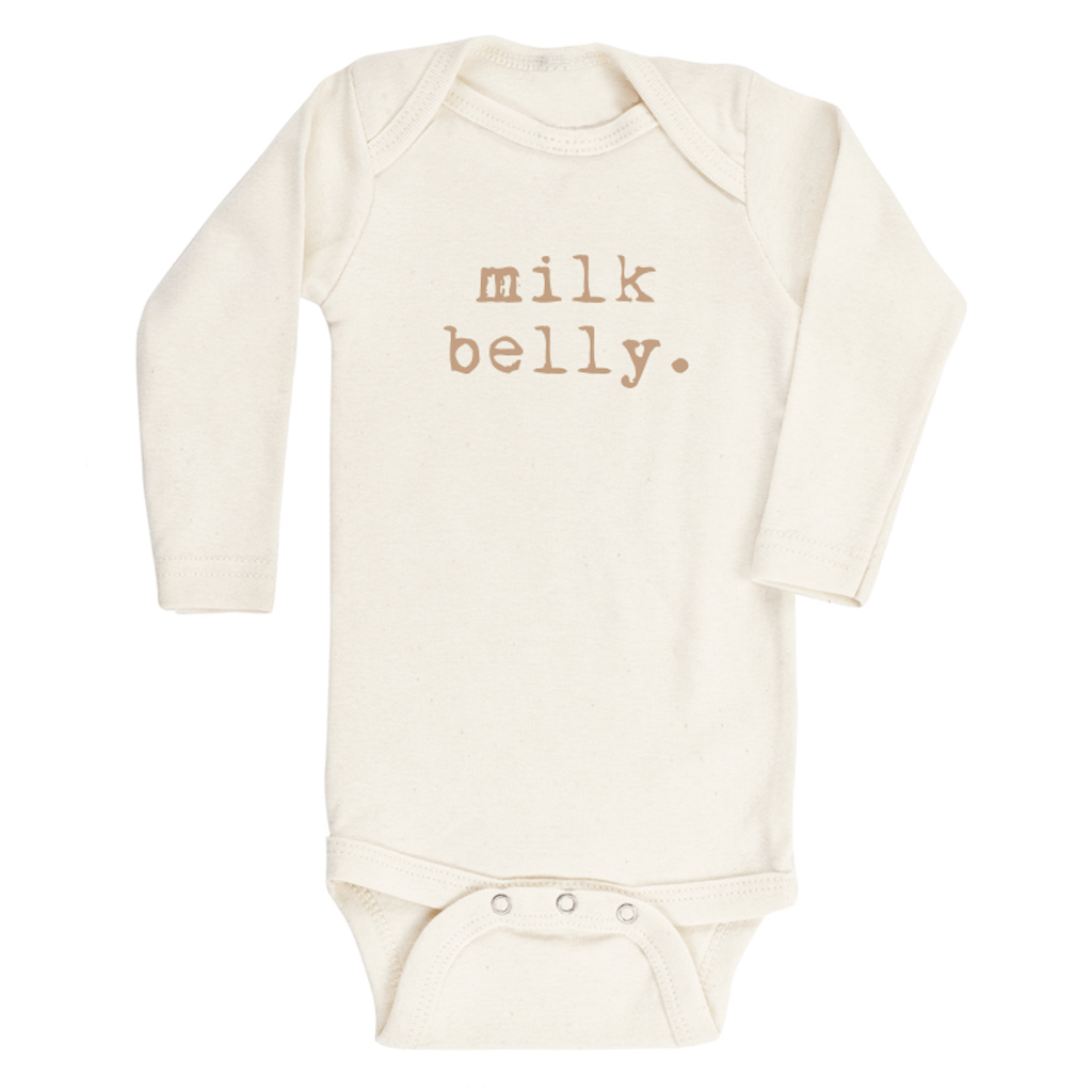 Milk Belly Longsleeve Organic Bodysuit - Project Nursery