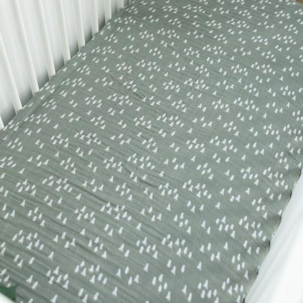 Pines Muslin Crib Sheet - Project Nursery