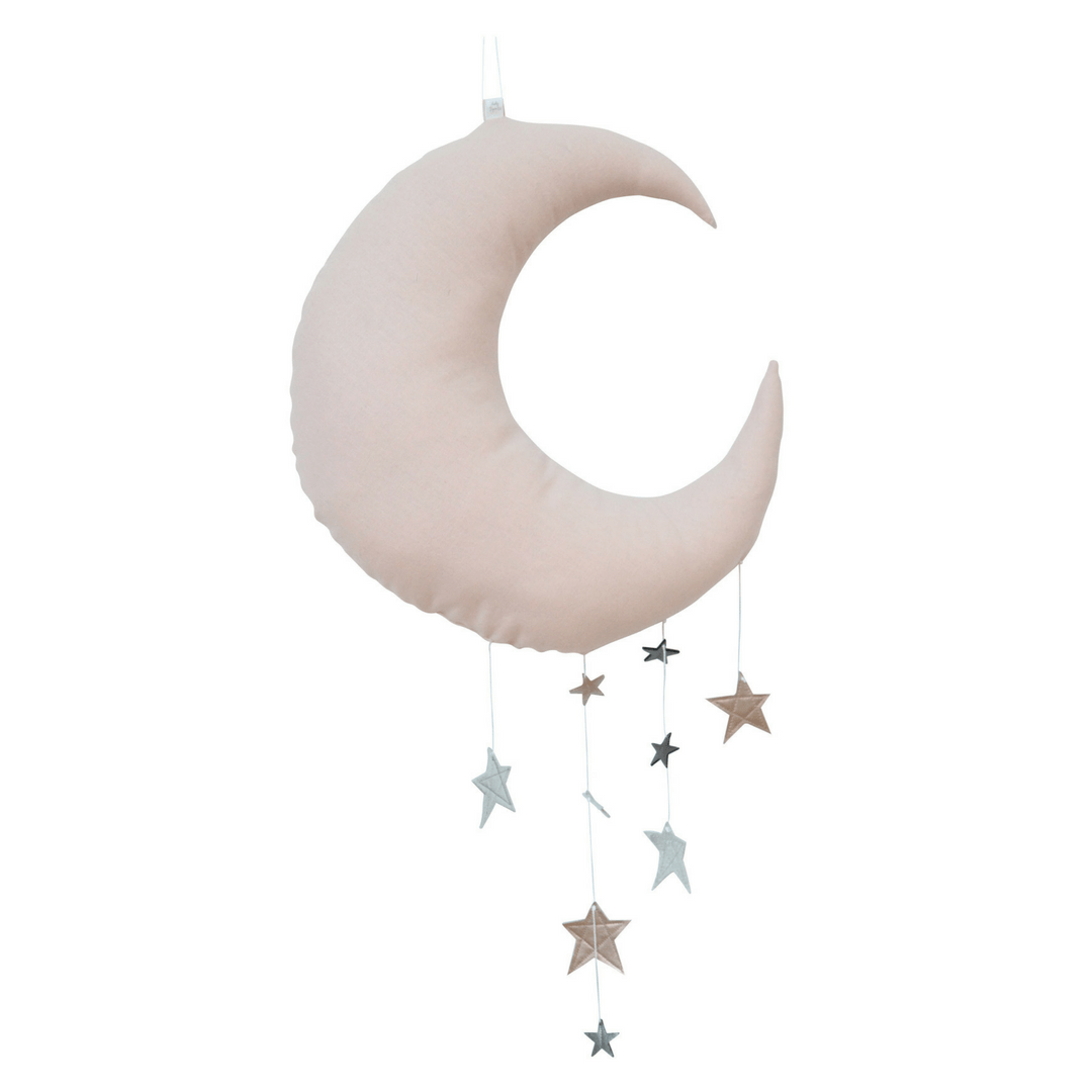 Luxe Cascading Moon Mobile - Blush