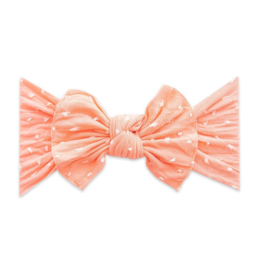 Coral Dot Shabby Knot Headband - Project Nursery