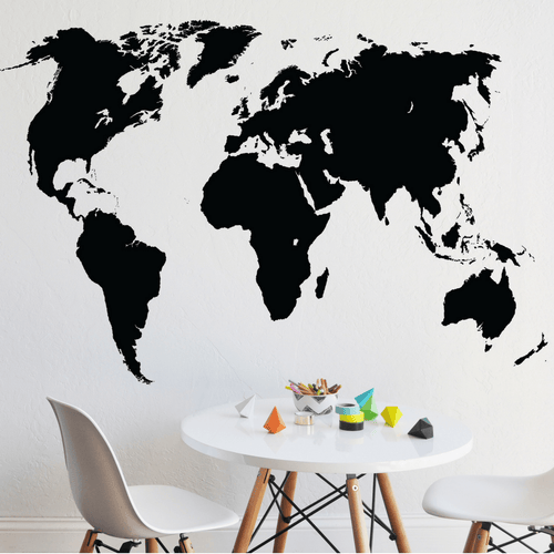 Chalkboard World Map Decal - Project Nursery