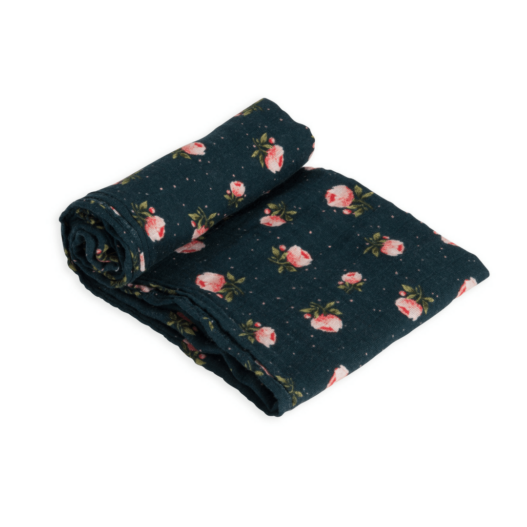 Midnight Rose Swaddle Blanket - Project Nursery
