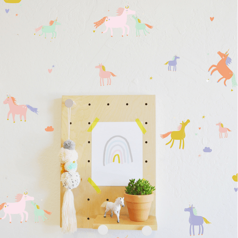 Rainbow Confetti Dot Wall Decals