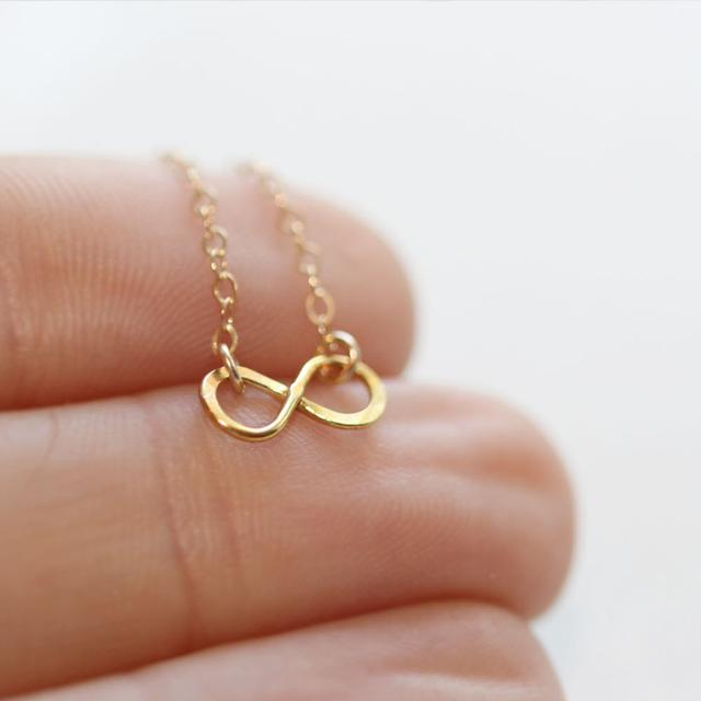 Mini Infinite Necklace Gold Finish - The Project Nursery Shop - 2