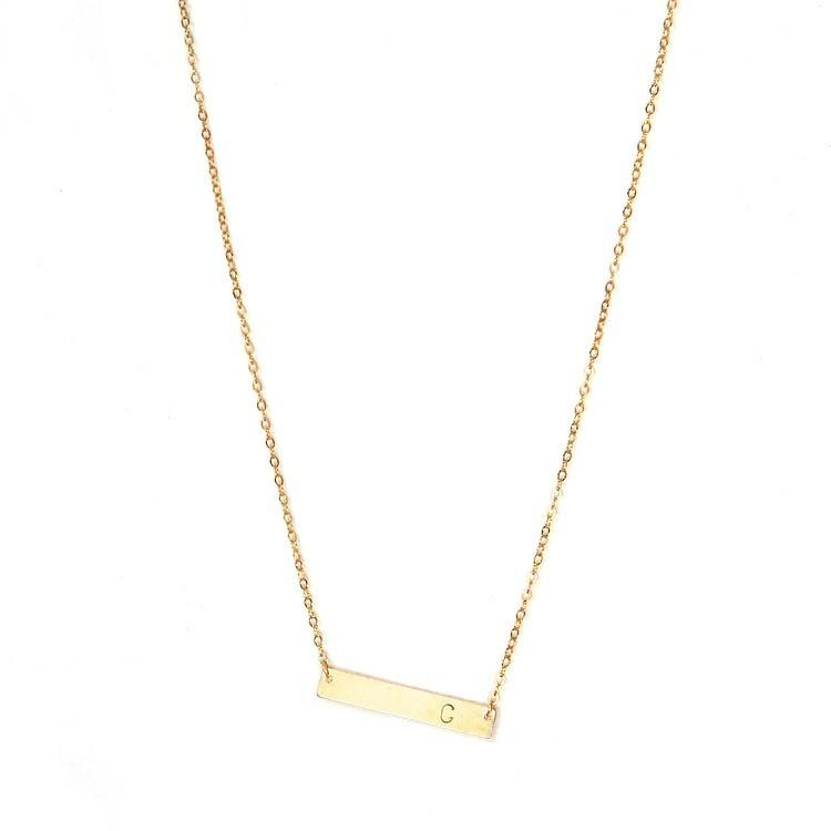 Initial Bar Necklace  - The Project Nursery Shop - 1