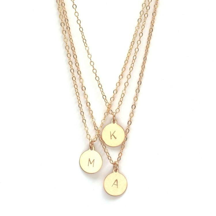 Initial Disc Necklace  - The Project Nursery Shop - 1