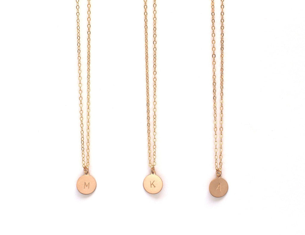Initial Disc Necklace  - The Project Nursery Shop - 3