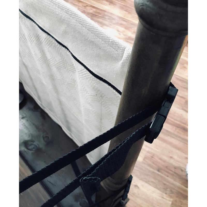 The Stair Barrier Banister-to-Banister Gate - Gray Farmhouse Lines - Project Nursery
