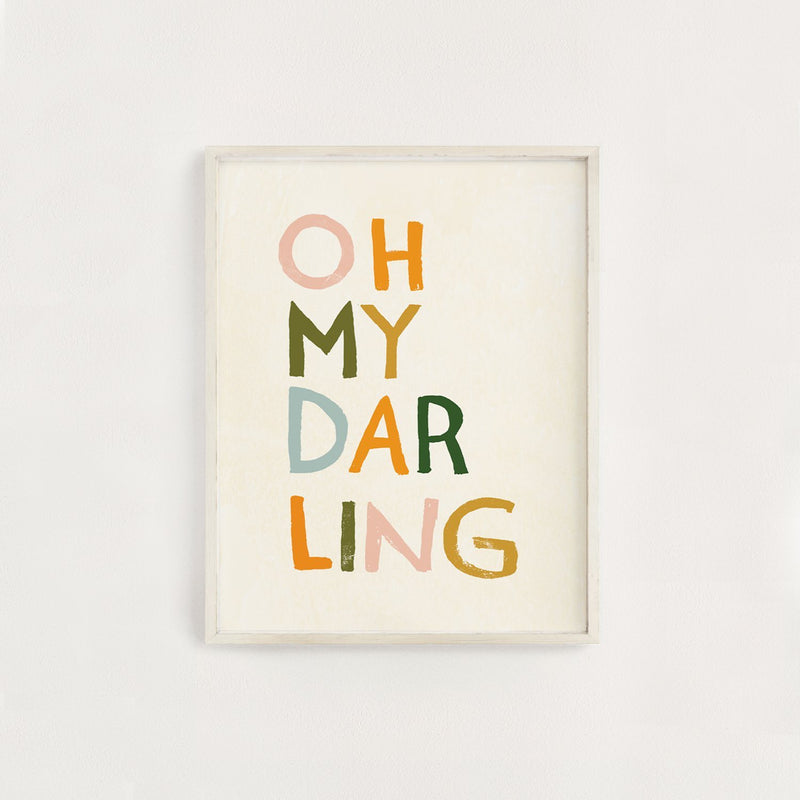 Oh My Darling Art Print - Project Nursery