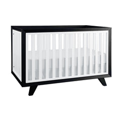 Project Nursery Wooster Crib in Two Toned Noir + Blanc - Project Nursery