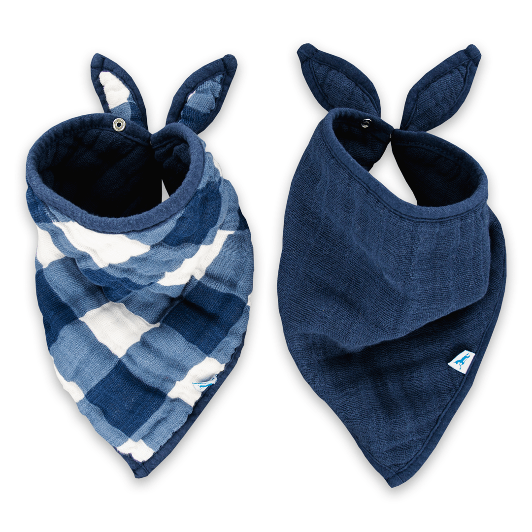Jack Plaid Cotton Bandana Bib Set - Project Nursery