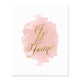 Je T'aime Gold Watercolor Print  - The Project Nursery Shop - 1