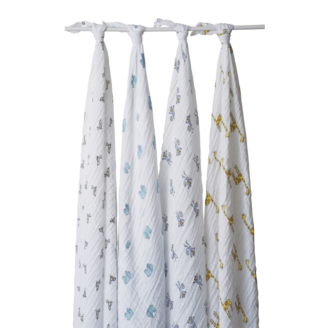 Classic Muslin Swaddle Set in Jungle Jam  - The Project Nursery Shop - 1