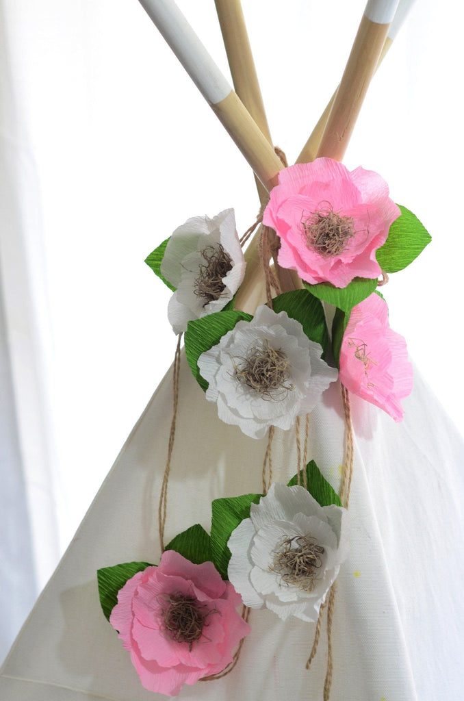 Jute Cord Floral Garland  - The Project Nursery Shop - 3