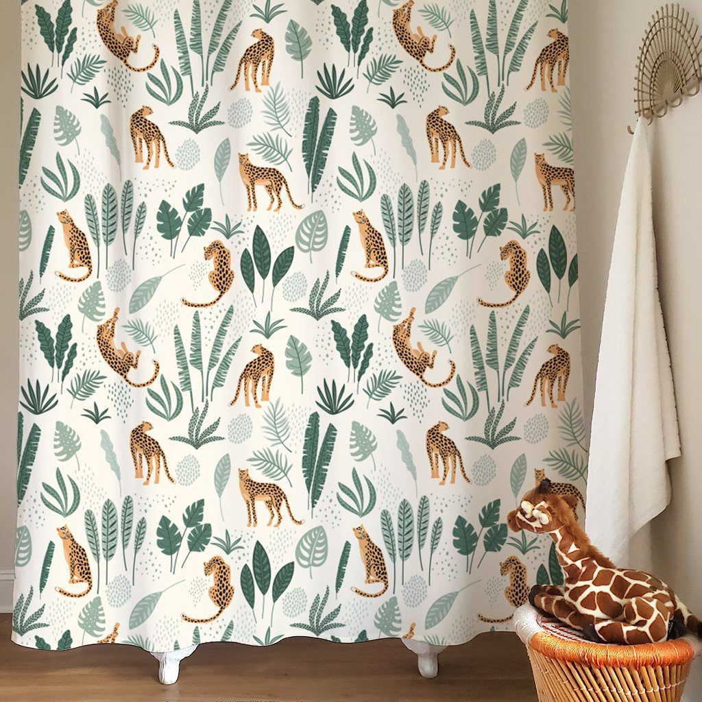 Cheetah Jungle Kids Shower Curtain - Project Nursery