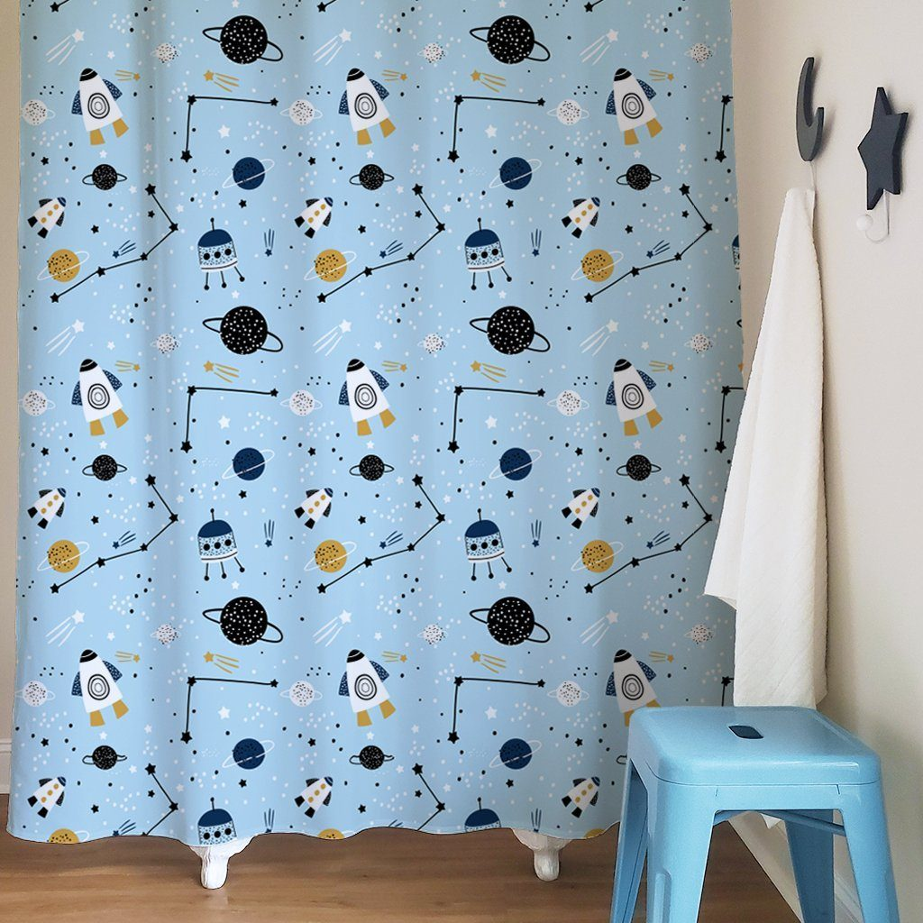Outer Space Kids Shower Curtain - Project Nursery