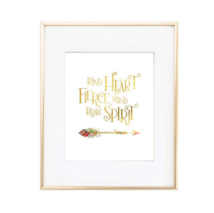 Kind Heart Fierce Mind Print  - The Project Nursery Shop - 1