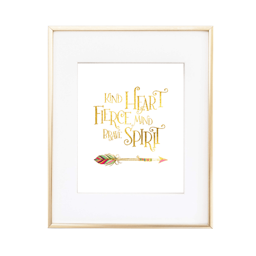Kind Heart Fierce Mind Print - Project Nursery