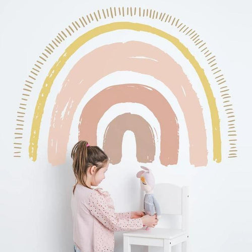 Large Boho Rainbow Wall Decal - Pastel Tones - Project Nursery