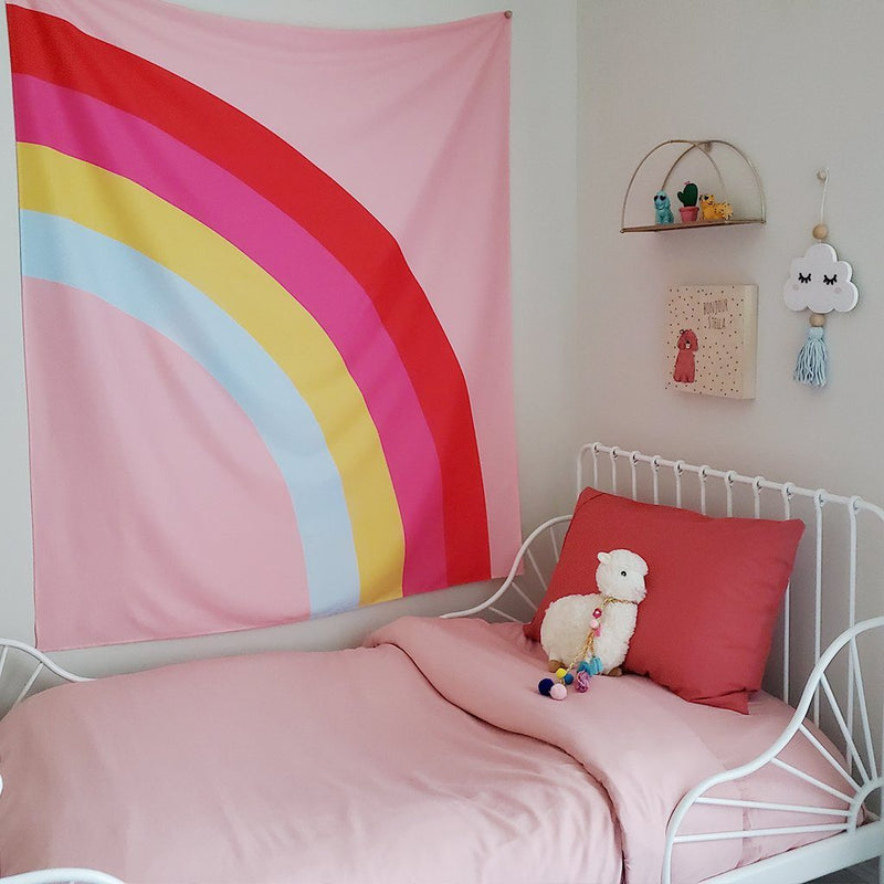 Large Modern Rainbow Kids Wall Tapestry - Project Nursery