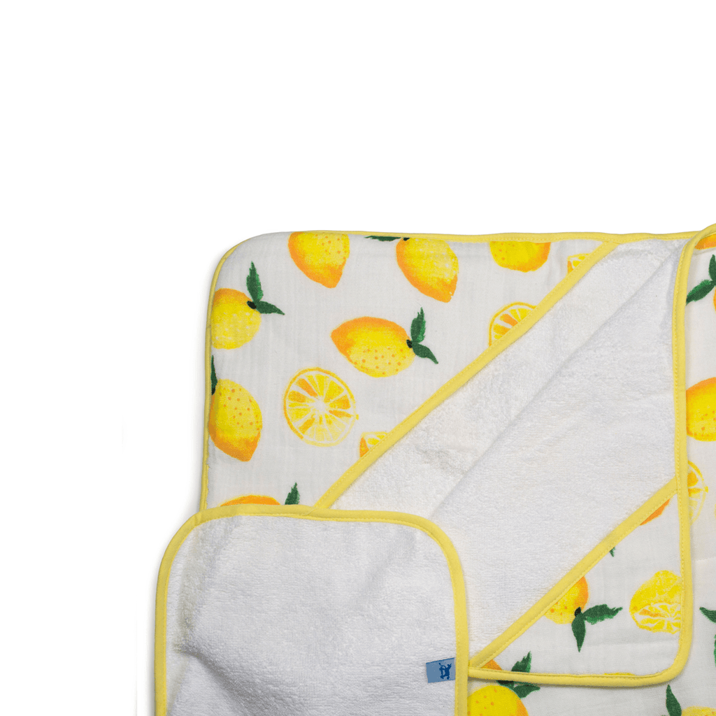 Hooded Towel Set - Lemon  - The Project Nursery Shop - 1