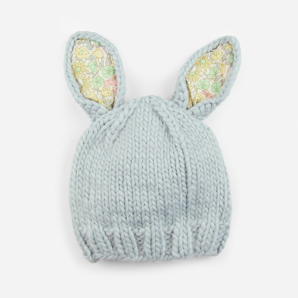 Bailey Bunny Knit Hat with Liberty Print - Project Nursery