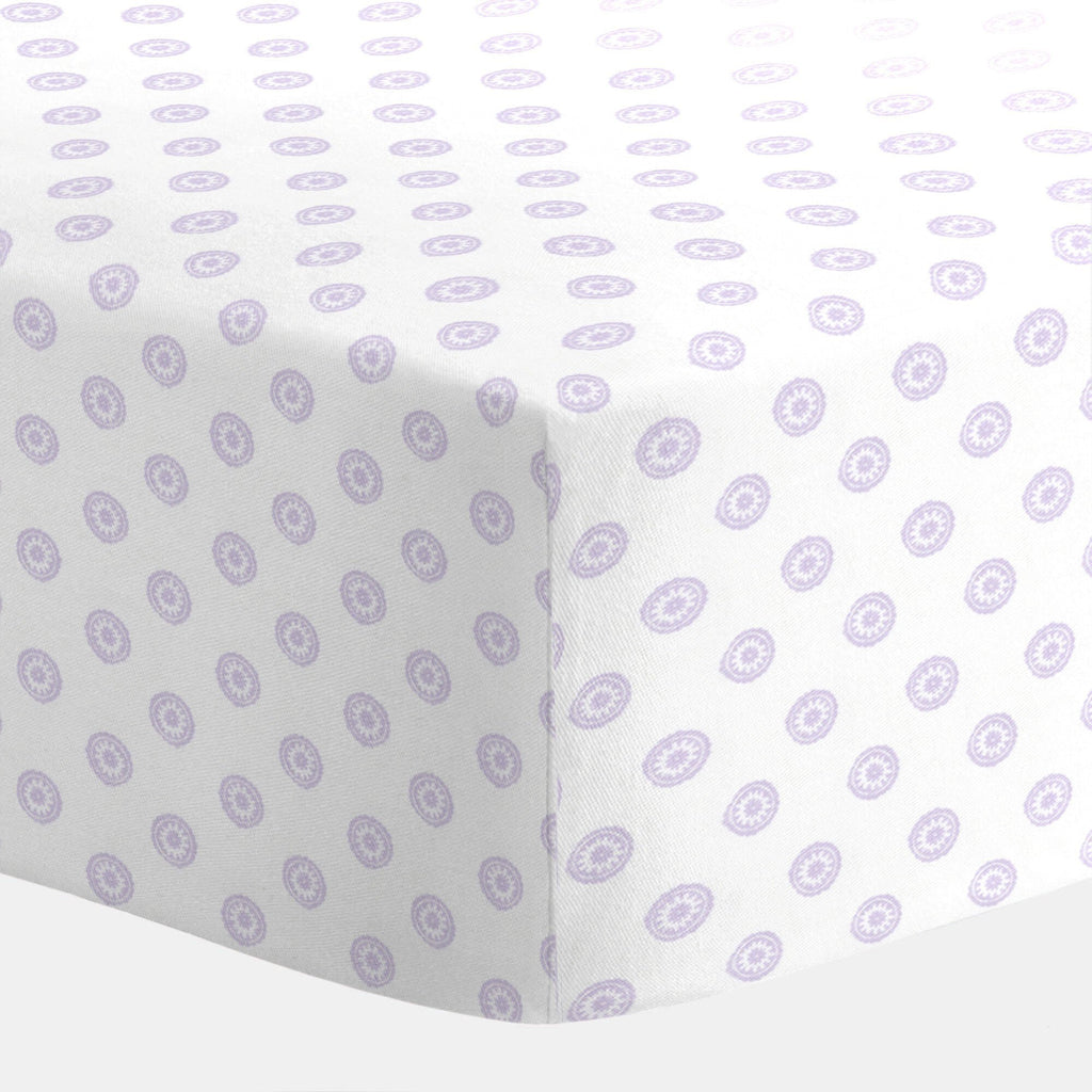 Lilac Chelsea Crib Sheet  - The Project Nursery Shop