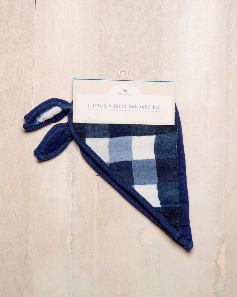 Cotton Bandana Bib Set in Jack Plaid  - The Project Nursery Shop - 2