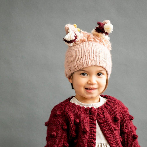 Llama Knit Hat in Pink - Project Nursery