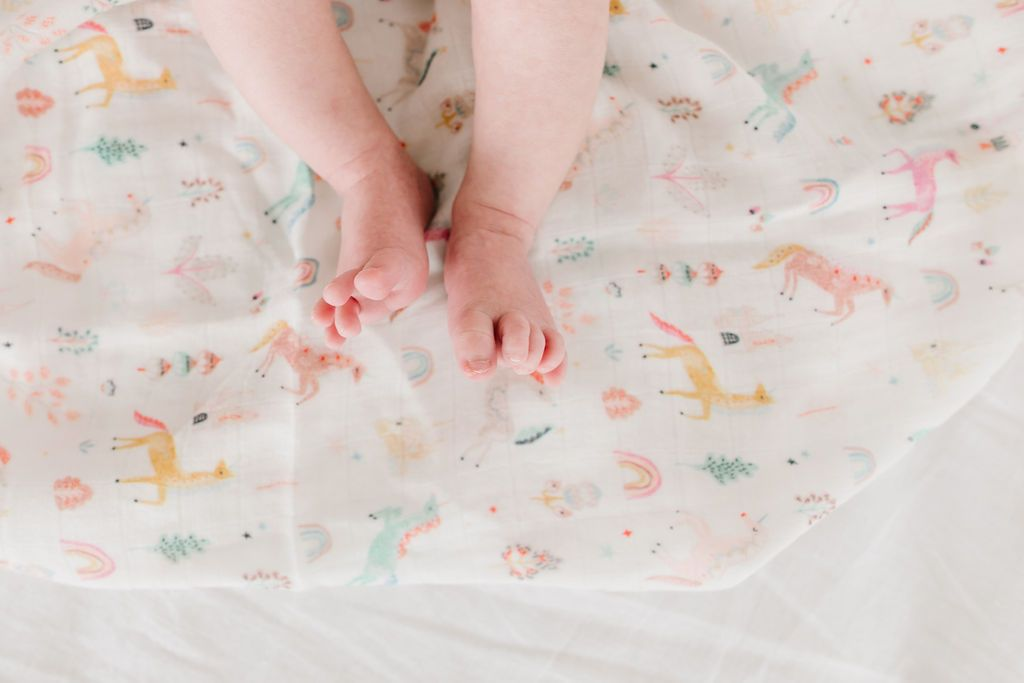 Unicorn Dream Muslin Swaddle Blanket - Project Nursery