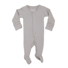 Organic Footed Overall - Light Grey - Project Nursery