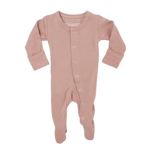 Organic Footed Overall - Cranberry