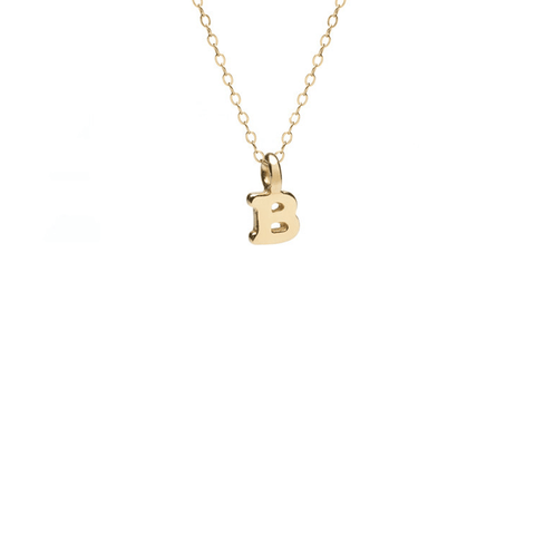 Pavé Diamond Initial Disc Necklace
