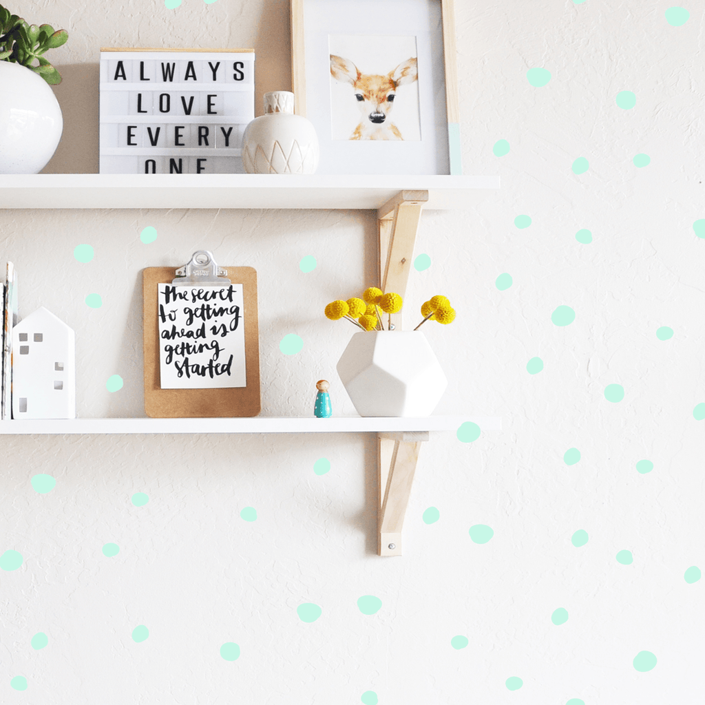 Tiny Hand Drawn Dots Mint - The Project Nursery Shop - 7