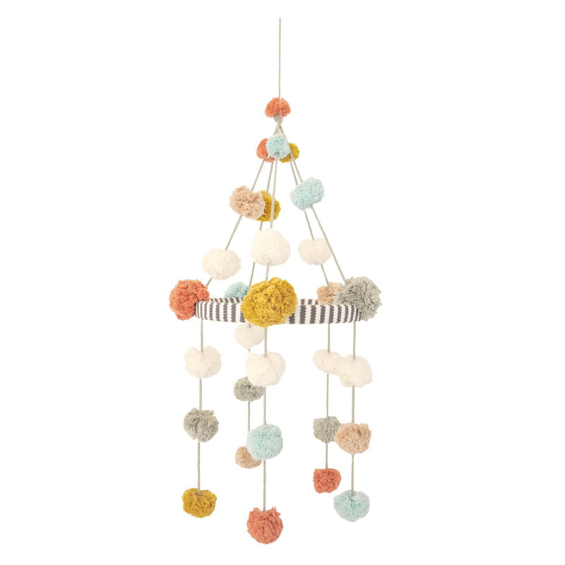 Blush Pom-Pom Mobile - Project Nursery