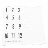 Monthly Milestone Cotton Muslin Swaddle Blanket  - The Project Nursery Shop - 1