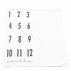 Monthly Milestone Cotton Muslin Swaddle Blanket - Project Nursery