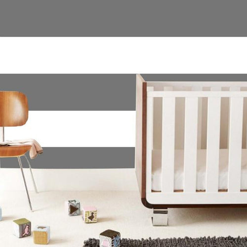 Wide Stripe Wallpaper Tiles in Gray - Project Nursery