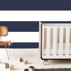 Wide Stripe Wallpaper Tiles in Navy - Project Nursery