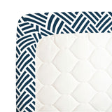 Navy Basketweave Crib Sheet  - The Project Nursery Shop - 2