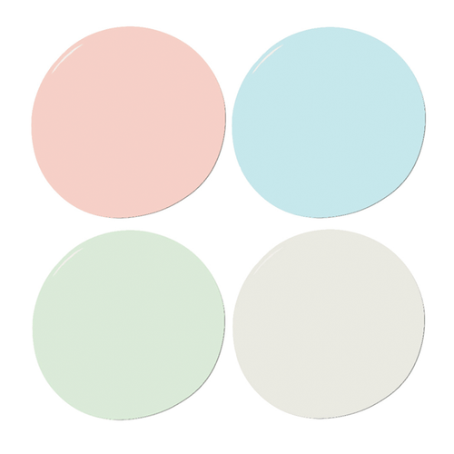 Coral, Mint and Aqua Sample Paint Set - Project Nursery