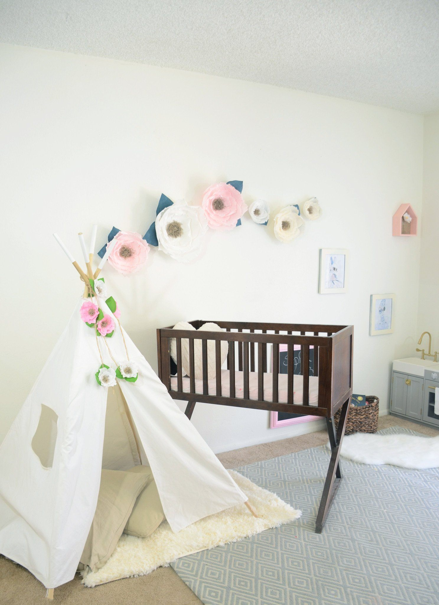 Jute Cord Floral Garland - Project Nursery