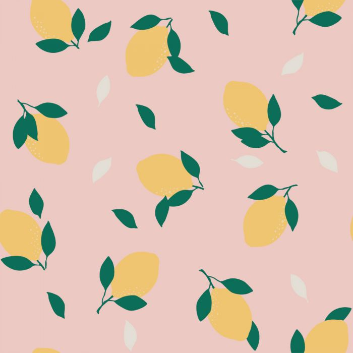 Lemons Wallpaper - Pink Lemonade - Project Nursery