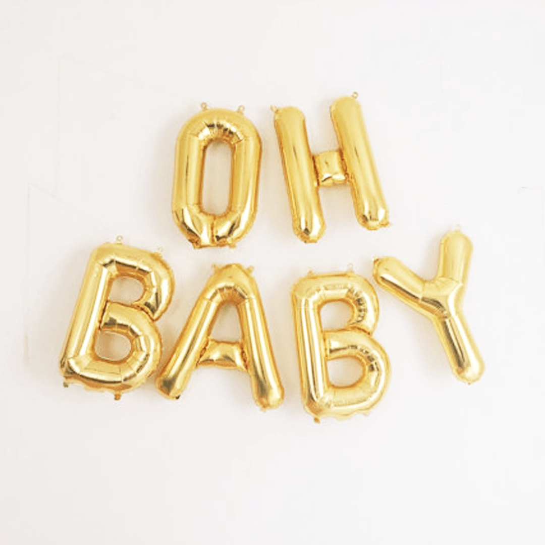 oh baby mylar banner project nursery