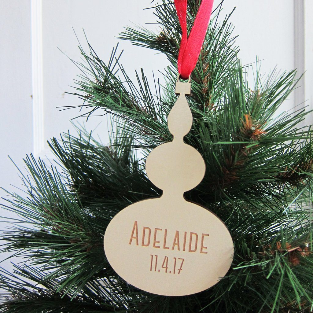 personalized babys first christmas vintage style ornament project nursery