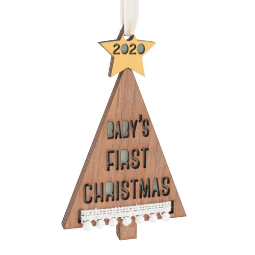 Personalized Baby's First Christmas Tree Ornament - Project Nursery