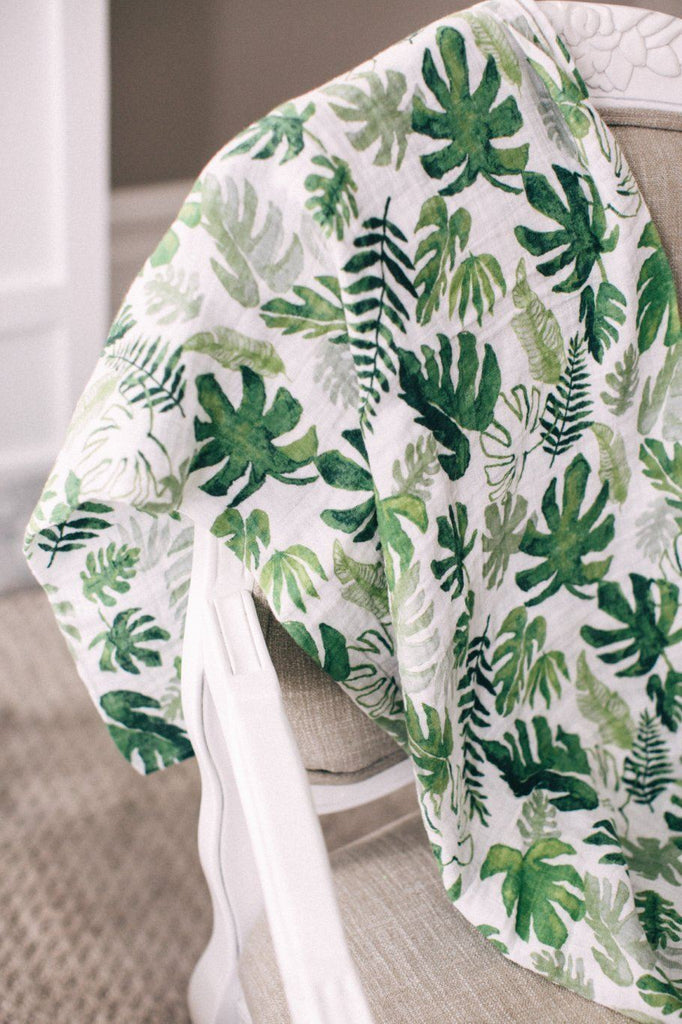 Tropical Leaf Swaddle