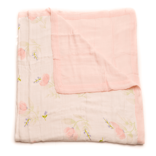 Deluxe Muslin Quilt in Pink Peony - Project Nursery